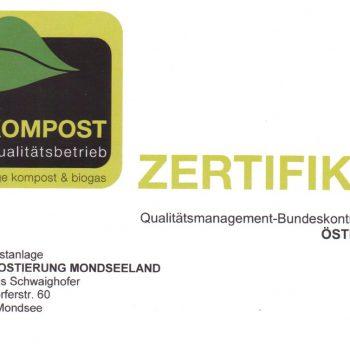 Zertifikat Kompostierung